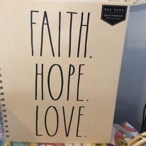 Rae Dunn's Faith, Hope, Love Notebooks